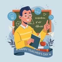 Man Teaching Concept vector