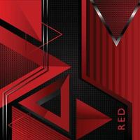 Red Triangle Vector Background