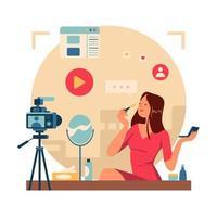 Beauty Video Bloggers vector