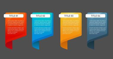 Abstract chat bubble infographic element. Creative colorful text box template. Perfect for brochure and banner template. vector