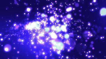 blå partikel bakgrund loop animation video