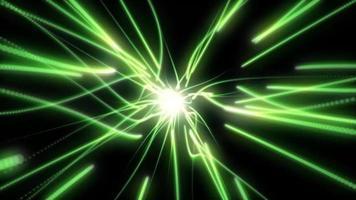 achtergrondanimatie van groene deeltjes trail video