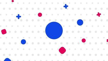 sfondo astratto varie forme movimento concept video