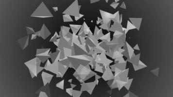 triangel polygon 3d partikel bakgrund loop animation video