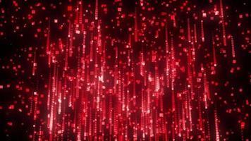 animação de loop de fundo de queda de partículas quadradas vermelhas video