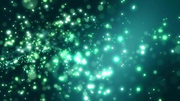 animação de loop de fundo de partícula verde claro video