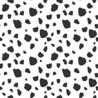 Cow skin stains, seamless pattern. Vector Illustration