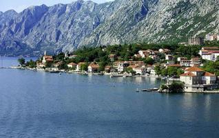 Perast village in Kotor Bay photo