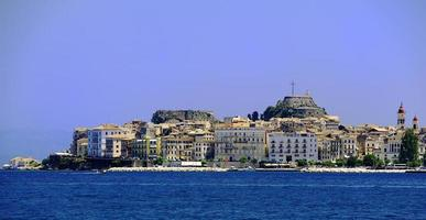 The old and new buildings of Corfu photo