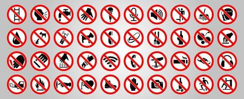 Cycle red prohibition sign on a white background vector