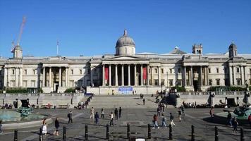 timelapse trafalgar square i London City, Storbritannien video