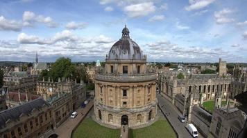 Oxford City with Radcliffe Camera in UK video