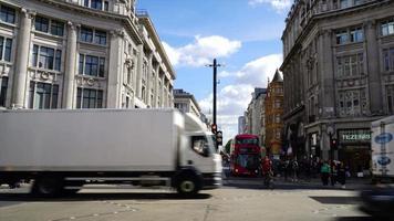 timelapse shoppinggata på Oxford Circus i London, England video