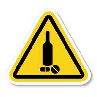 Prohibited Drug Symbol Sign vector