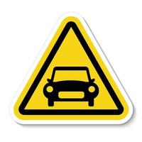 Car prohibition sign on white background vector