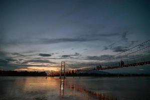 The old wooden bridge Bridge collapse bridge Rattanakosin suspe photo