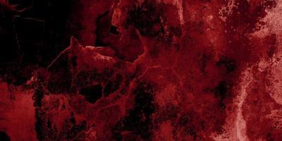 Fondo de terror rojo y negro. concreto oscuro grunge textura roja foto