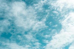 Copy space minimal concept of summer blue sky and white cloud abstract blank. photo