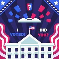campaña electoral con la casa blanca vector