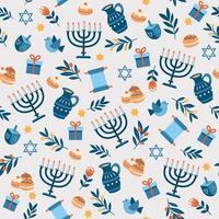 Happy Hanukkah Seamless Pattern vector