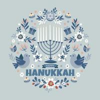 Happy Hanukkah Jewish Festival of Lights vector