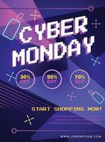 Cyber Monday Poster vector