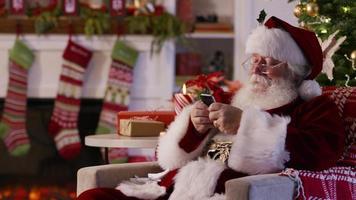 jultomten textning med mobiltelefon video