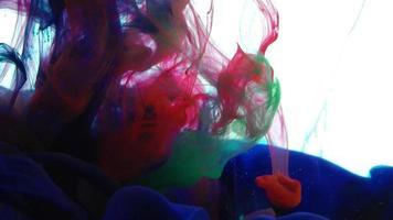 gocce di inchiostro texture vernice colorata astratta video