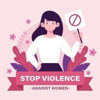 día internacional para la eliminación de la violencia contra la mujer vector