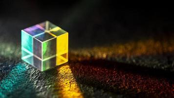 Light dispersion optical effect prism photo