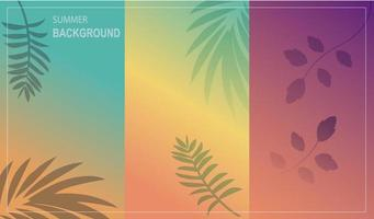 Summer background with gradient color vector