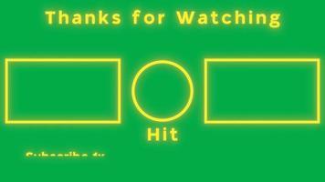 carte d'écran de fin youtube avec bordures jaunes et fond vert video