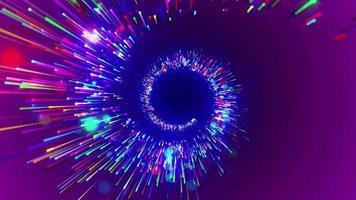 Círculo roxo neon animação em loop de fundo video