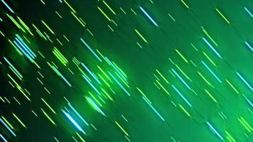 animação em loop de fundo de linhas de partícula verde neon video