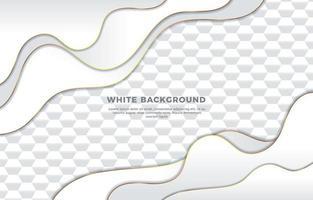 White Hexagonal Pattern Background vector