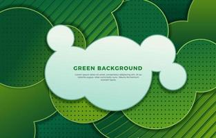 Circles Stripes and Dots Green Background vector