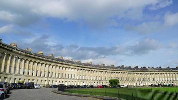 timelapse Bath City with The Royal Crescent in UK video