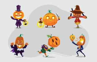 Jack O Lantern Characters Concept Pack vector