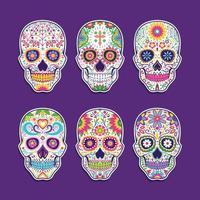 Dia De Los Muertos Sugar Skull Collection Pack vector