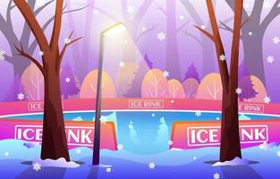 Ice Skating Background vector