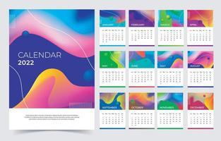 Abstract Calendar 2022 Template vector
