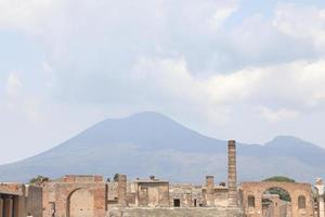 The Ruins of the ancient city of Pompei Italy photo