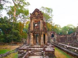 demolished stone architecture at Preah Khan temple, Siem Reap photo