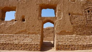 Landscape view of Gaochang Ruins inTurpan Xinjiang Province China. photo