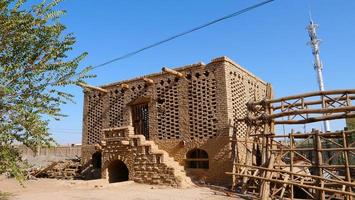 grape air dried house architecture in Turpan Grape Valley, Xinjiang photo