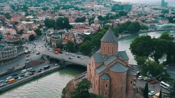 City Tbilisi, Georgia - Aerial video