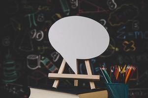 speech bubble in the classroom photo