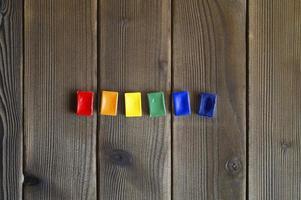 Rainbow watercolor palette photo