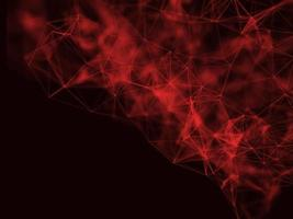 3D low poly plexus background design with shallow depth of field. Network connections photo
