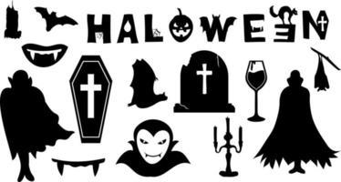 Halloween vampire bundle vector